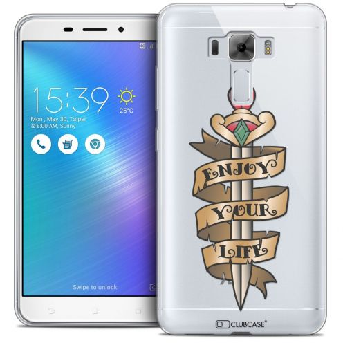 "Coque Crystal Gel Asus Zenfone 3 Laser ZC551KL (5.5"") Extra Fine Tatoo Lover - Enjoy Life"