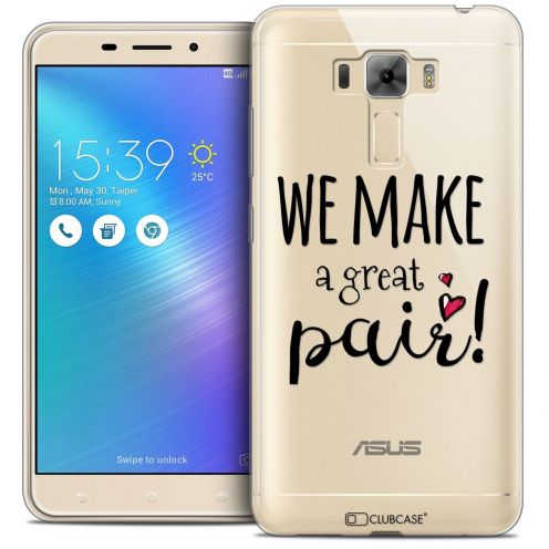 "Coque Crystal Gel Asus Zenfone 3 Laser ZC551KL (5.5"") Extra Fine Love - We Make Great Pair"