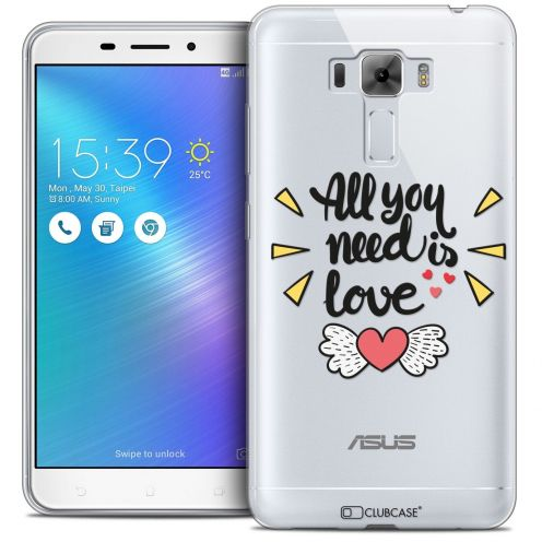 "Coque Crystal Gel Asus Zenfone 3 Laser ZC551KL (5.5"") Extra Fine Love - All U Need Is"