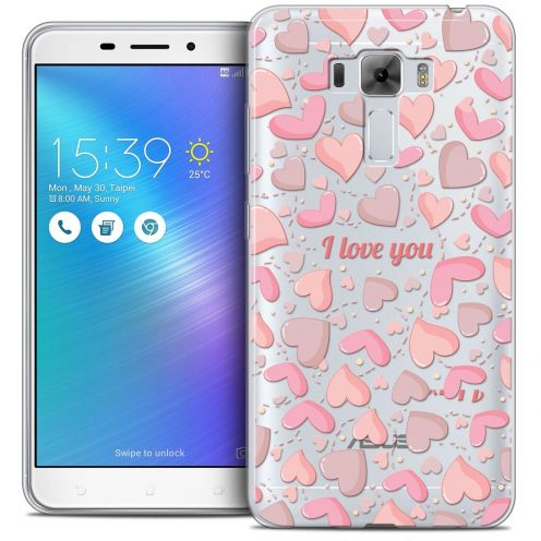 "Coque Crystal Gel Asus Zenfone 3 Laser ZC551KL (5.5"") Extra Fine Love - I Love You"