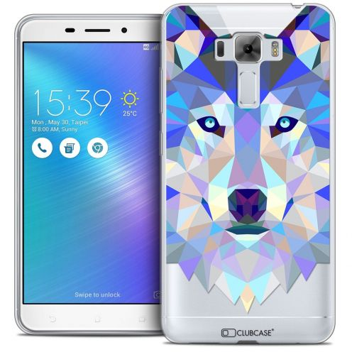 "Coque Crystal Gel Asus Zenfone 3 Laser ZC551KL (5.5"") Extra Fine Polygon Animals - Loup"