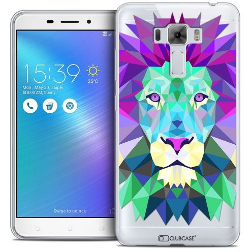 "Coque Crystal Gel Asus Zenfone 3 Laser ZC551KL (5.5"") Extra Fine Polygon Animals - Lion"