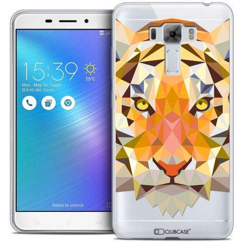 "Coque Crystal Gel Asus Zenfone 3 Laser ZC551KL (5.5"") Extra Fine Polygon Animals - Tigre"