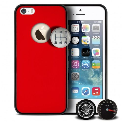 Carcasa Qdos® Custom Buttons Rojo por iPhone 5/5S