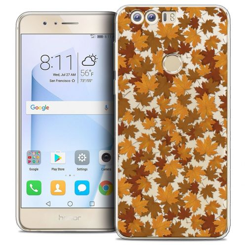 """Coque Crystal Gel Huawei Honor 8 (5.2"""") Extra Fine Autumn 16 - Feuilles"""