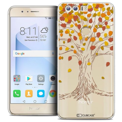 """Coque Crystal Gel Huawei Honor 8 (5.2"""") Extra Fine Autumn 16 - Tree"""