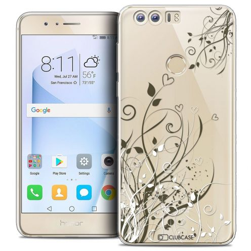 """Coque Crystal Gel Huawei Honor 8 (5.2"""") Extra Fine Love - Hearts Flowers"""