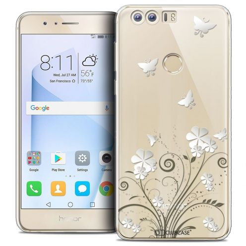 """Coque Crystal Gel Huawei Honor 8 (5.2"""") Extra Fine Summer - Papillons"""
