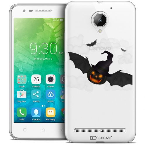 "Coque Crystal Gel Lenovo C2 K10A40 (5"") Extra Fine Halloween - Chauve Citrouille"