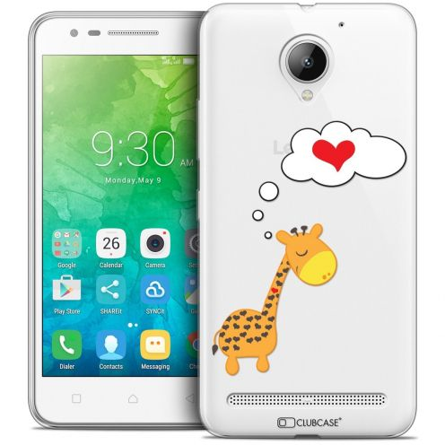"Coque Crystal Gel Lenovo C2 K10A40 (5"") Extra Fine Love - Girafe Amoureuse"