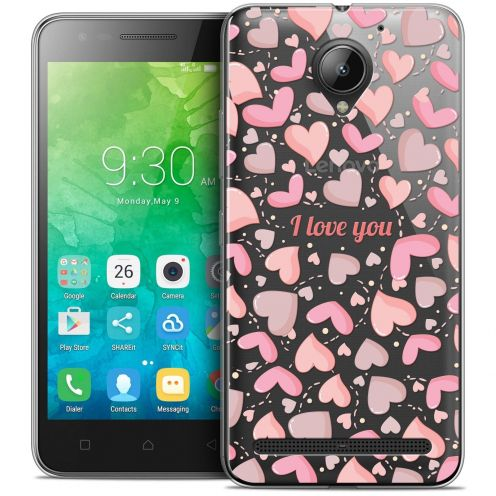 "Coque Crystal Gel Lenovo C2 K10A40 (5"") Extra Fine Love - I Love You"