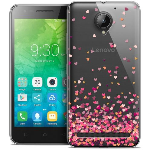 """Coque Crystal Gel Lenovo C2 K10A40 (5"""") Extra Fine Sweetie - Heart Flakes"""
