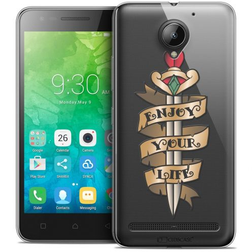 "Coque Crystal Gel Lenovo C2 K10A40 (5"") Extra Fine Tatoo Lover - Enjoy Life"