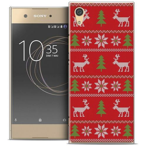 """Coque Crystal Rigide Sony Xperia XA1 (5"""") Extra Fine Noël 2017 - Couture Rouge"""