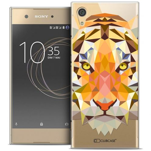 "Coque Crystal Rigide Sony Xperia XA1 (5"") Extra Fine Polygon Animals - Tigre"