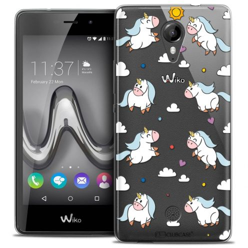 """Coque Crystal Gel Wiko Tommy (5"""") Extra Fine Fantasia - Licorne In the Sky"""