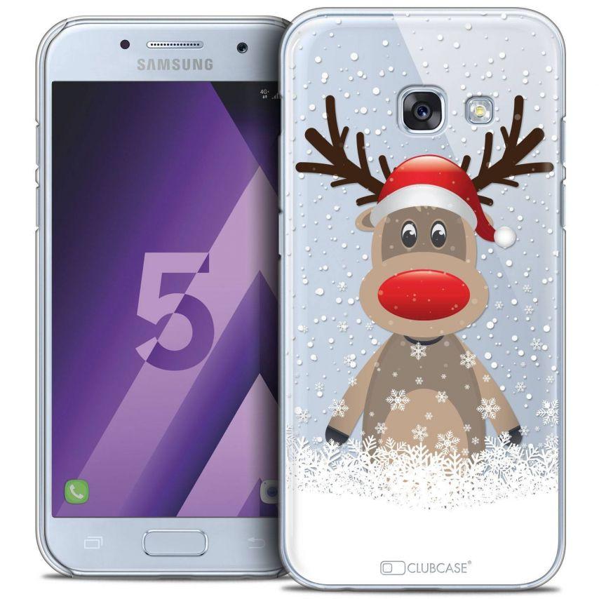 Coque Crystal Samsung Galaxy A5 2017 (A520) Extra Fine Noël 2016 - Cerf au Bonnet