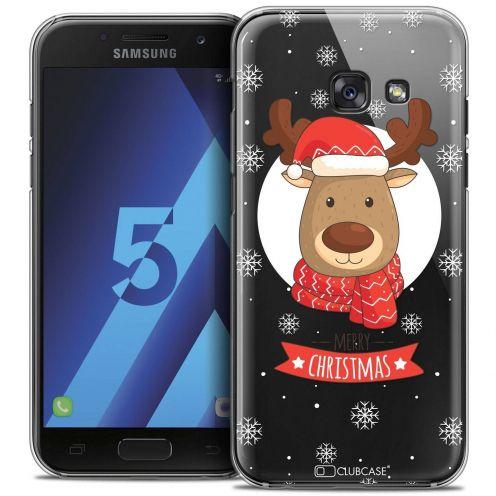 Coque Crystal Samsung Galaxy A5 2017 (A520) Extra Fine Noël 2016 - Cerf à Echarpe