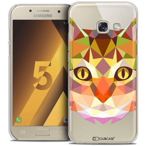 Coque Crystal Samsung Galaxy A5 2017 (A520) Extra Fine Polygon Animals - Chat