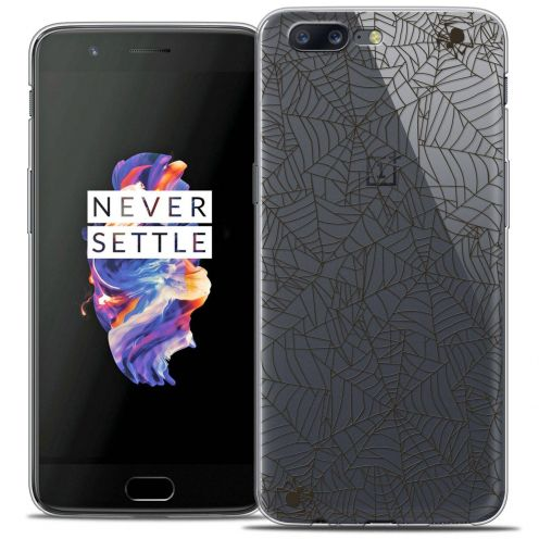 "Coque Crystal Gel OnePlus 5 (5.5"") Extra Fine Halloween - Spooky Spider"