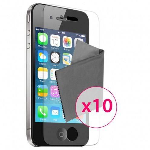 10 protectores de pantalla HQ para iPhone 4 / 4S