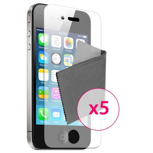 5 protectores de pantalla Espejo para iPhone 4 / 4S