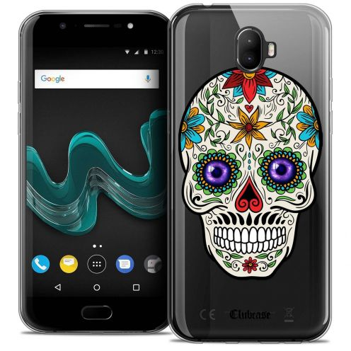 "Coque Crystal Gel Wiko Wim (5.5"") Extra Fine Skull - Maria's Flower"