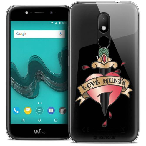 """Coque Crystal Gel Wiko Wim LITE (5.0"""") Extra Fine Tatoo Lover - Love Hurts"""