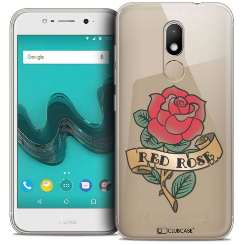 """Coque Crystal Gel Wiko Wim LITE (5.0"""") Extra Fine Tatoo Lover - Red Rose"""