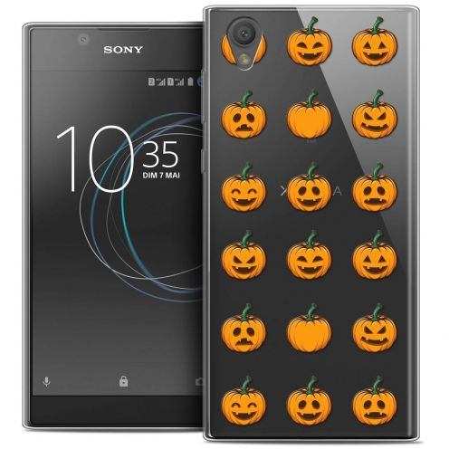 "Coque Crystal Gel Sony Xperia L1 (5.5"") Extra Fine Halloween - Cartoon Citrouille"