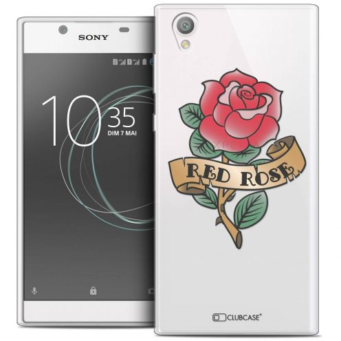 "Coque Crystal Gel Sony Xperia L1 (5.5"") Extra Fine Tatoo Lover - Red Rose"