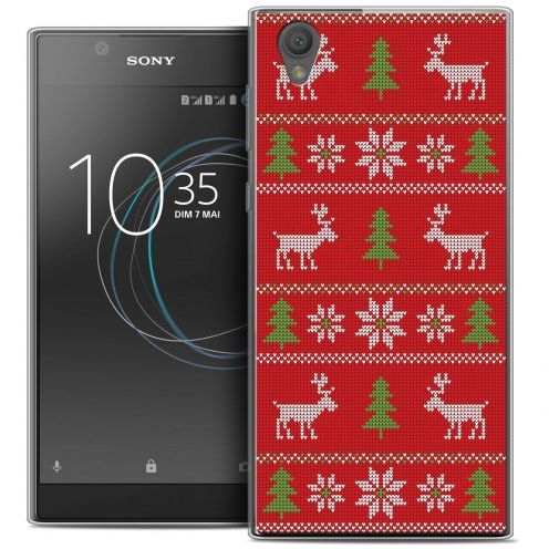 "Carcasa Crystal Gel Extra Fina Sony Xperia L1 (5.5"") Noël 2017 Couture Rouge"