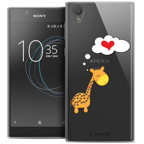 """Coque Crystal Gel Sony Xperia L1 (5.5"""") Extra Fine Love - Girafe Amoureuse"""