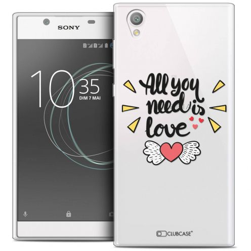 "Carcasa Crystal Gel Extra Fina Sony Xperia L1 (5.5"") Love All U Need Is"