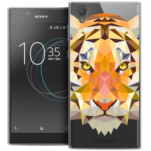 "Coque Crystal Gel Sony Xperia L1 (5.5"") Extra Fine Polygon Animals - Tigre"