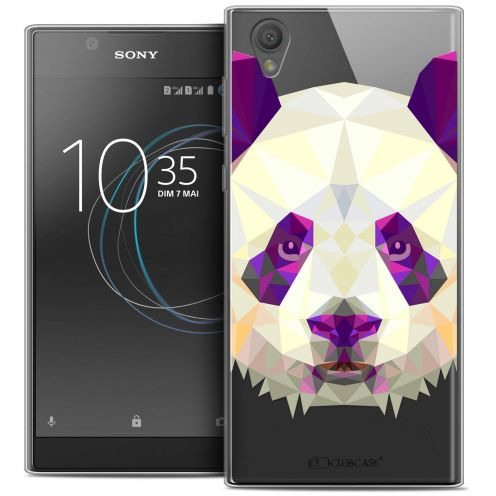 "Coque Crystal Gel Sony Xperia L1 (5.5"") Extra Fine Polygon Animals - Panda"