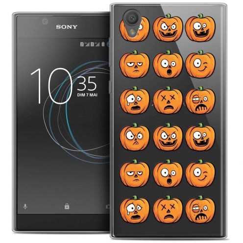 "Carcasa Crystal Gel Extra Fina Sony Xperia L1 (5.5"") Halloween Smiley Citrouille"