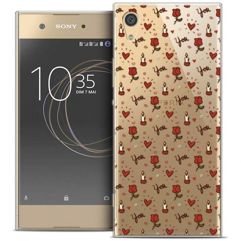 """Coque Crystal Gel Sony Xperia XA1 Ultra (6"""") Extra Fine Love - Bougies et Roses"""