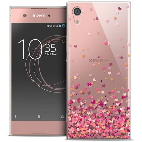 "Coque Crystal Gel Sony Xperia XA1 Ultra (6"") Extra Fine Sweetie - Heart Flakes"