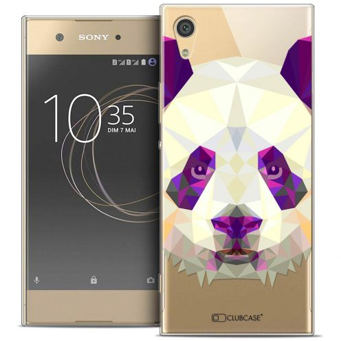 "Coque Crystal Gel Sony Xperia XA1 Ultra (6"") Extra Fine Polygon Animals - Panda"