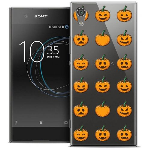 "Carcasa Crystal Gel Extra Fina Sony Xperia XA1 Ultra (6"") Halloween Smiley Citrouille"