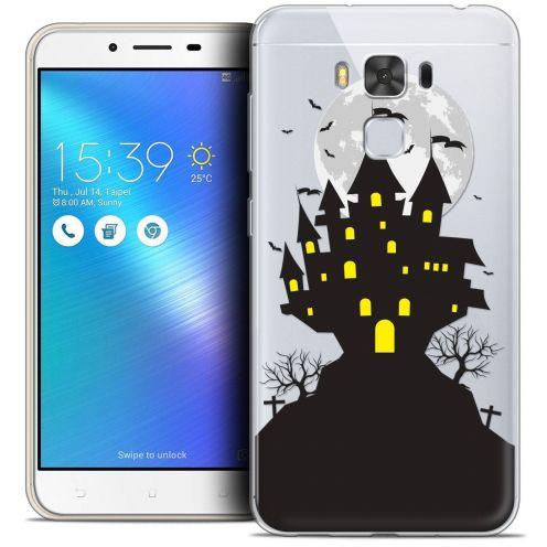 "Coque Crystal Gel Asus Zenfone 3 Max Plus ZC553KL (5.5"") Extra Fine Halloween - Castle Scream"