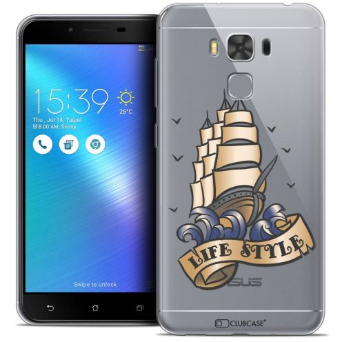 """Coque Crystal Gel Asus Zenfone 3 Max Plus ZC553KL (5.5"""") Extra Fine Tatoo Lover - Life Style"""