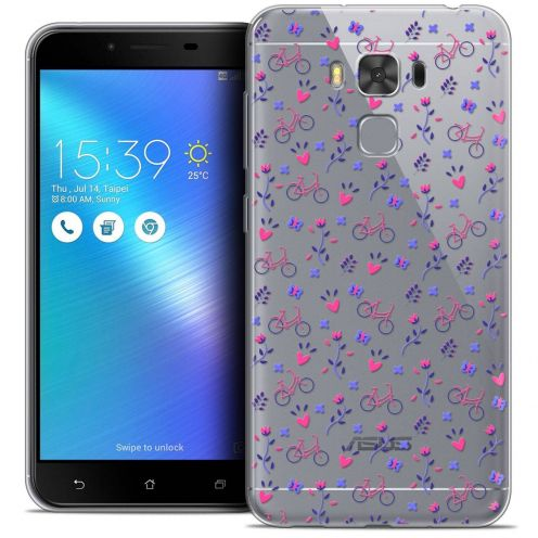 """Coque Crystal Gel Asus Zenfone 3 Max Plus ZC553KL (5.5"""") Extra Fine Love - Bicycle"""