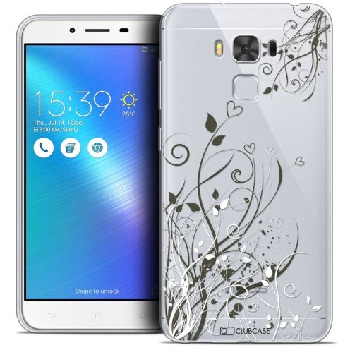 "Coque Crystal Gel Asus Zenfone 3 Max Plus ZC553KL (5.5"") Extra Fine Love - Hearts Flowers"