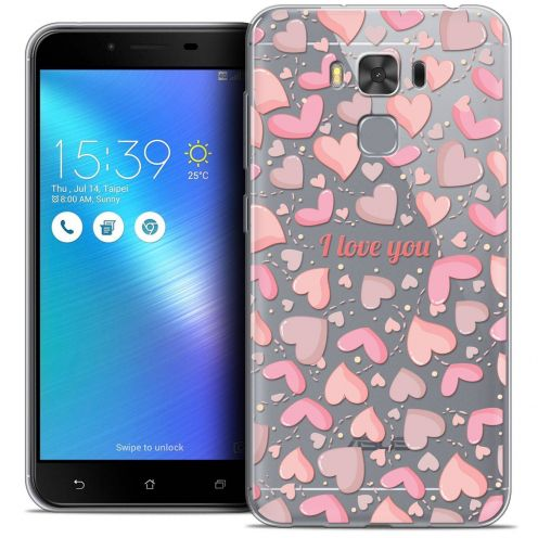 """Coque Crystal Gel Asus Zenfone 3 Max Plus ZC553KL (5.5"""") Extra Fine Love - I Love You"""