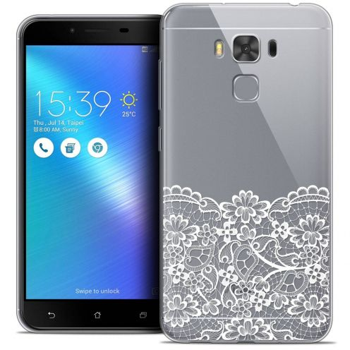 "Coque Crystal Gel Asus Zenfone 3 Max Plus ZC553KL (5.5"") Extra Fine Spring - Bas dentelle"
