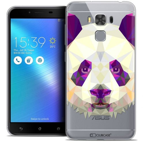 "Coque Crystal Gel Asus Zenfone 3 Max Plus ZC553KL (5.5"") Extra Fine Polygon Animals - Panda"