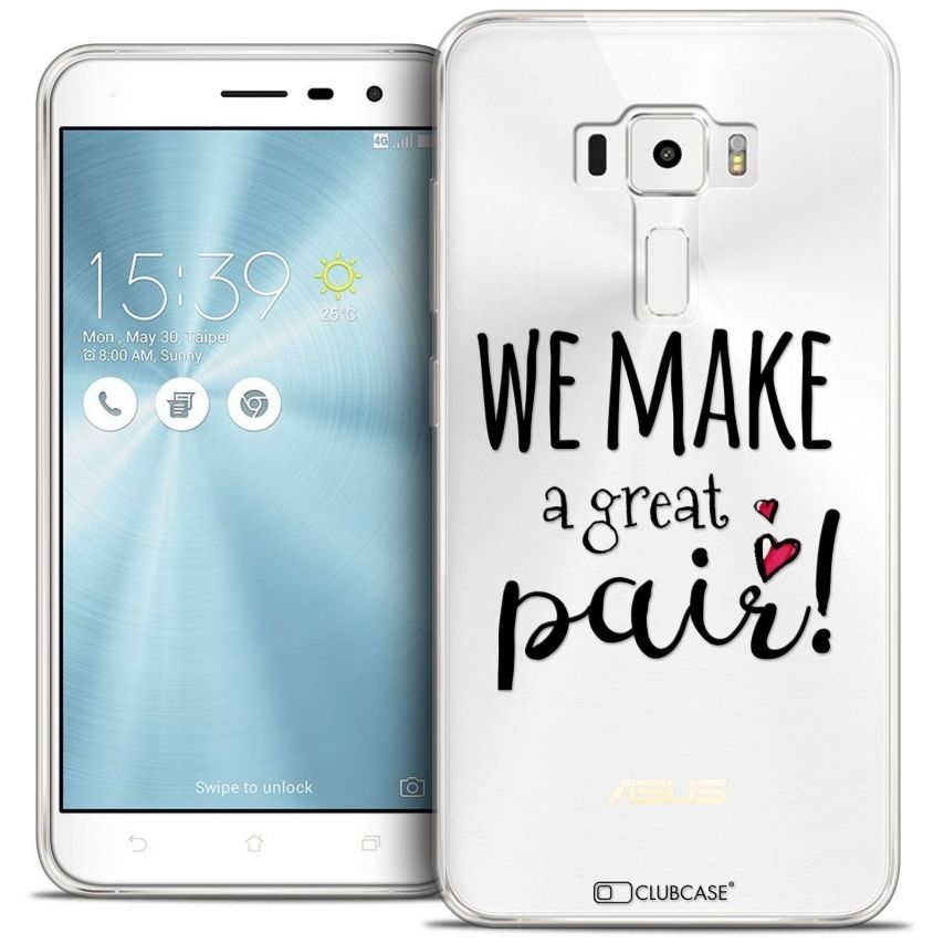 "Coque Crystal Gel Asus Zenfone 3 ZE520KL (5.2"") Extra Fine Love - We Make Great Pair"