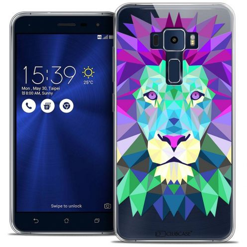 "Coque Crystal Gel Asus Zenfone 3 ZE520KL (5.2"") Extra Fine Polygon Animals - Lion"